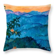 The Very Blue Ridge Throw Pillow