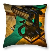 The Victorian Seamstress Throw Pillow