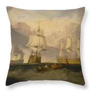 The Victory Returning From Trafalgar Throw Pillow