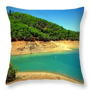 The View At Shasta Lake Throw Pillow