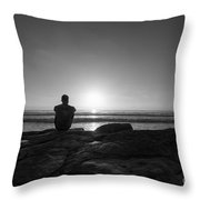 The View Bw Throw Pillow
