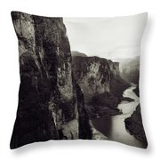 The View Downstream From The Eminence Throw Pillow