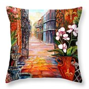 The View From A Courtyard Throw Pillow