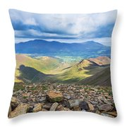 Keswick And Derwent Water From Crag Hill Throw Pillow
