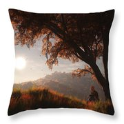 The View From Here Throw Pillow by Melissa Krauss