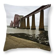 The View Of The Forth Bridge Throw Pillow