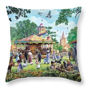 The Village Fayre  Throw Pillow