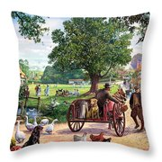 The Village Green Throw Pillow