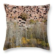 The Village Of Abyaneh In Iran Throw Pillow