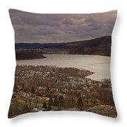 The Village Of Cold Spring And The Hudson River Throw Pillow
