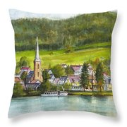 The Village Of Einruhr In Germany Throw Pillow