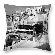 The Village Of Oia 2 Throw Pillow