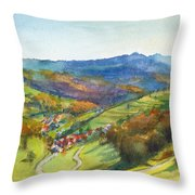 The Village Of Wieden In The Black Forest Throw Pillow