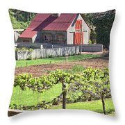 The Vineyard Barn Throw Pillow