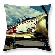 The Vintage North American T-6 Texan Throw Pillow