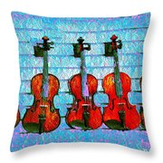 The Violin Store Throw Pillow