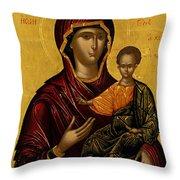 The Virgin Hodegetria Throw Pillow
