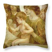 The Virgin Of The Angels Throw Pillow