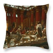 The Visit Of The Queen Of Sheba To King Solomon Throw Pillow