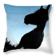 The Visiter Throw Pillow