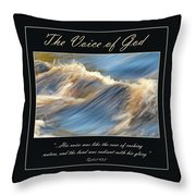 The Voice Of God Throw Pillow