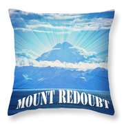 The Volcano Mt Redoubt Throw Pillow