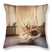The Volume With Clouds Throw Pillow