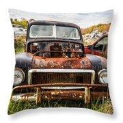 The Volvo Junkyard Throw Pillow