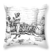The Voodoo Dance Throw Pillow
