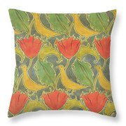 The Voysey Birds Throw Pillow