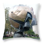 The W T C Fountain Sphere Throw Pillow