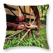 The Wagon Wheel Throw Pillow