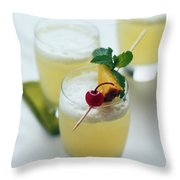 The Wahine Cocktail Throw Pillow