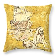 The Waiting Mermaid Throw Pillow