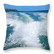 The Wake Throw Pillow by Kaye Menner