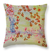 The Walk To A Woman Throw Pillow