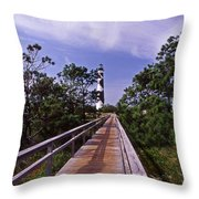 The Walk To Cape Lookout Throw Pillow