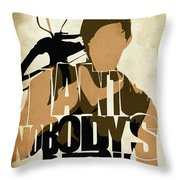 The Walking Dead Inspired Daryl Dixon Typographic Artwork Throw Pillow