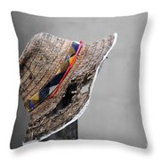 The Wall Builder's Hat Throw Pillow