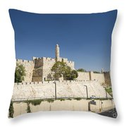 The Walls Of Jerusalem Old Town Israel Throw Pillow