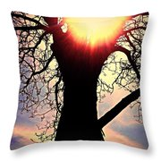 The Walnut Tree Throw Pillow