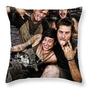 The Wanderers In New Orleans Throw Pillow