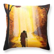 The Wandering Ascetic Throw Pillow