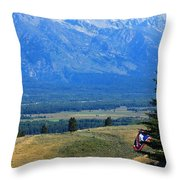 The Wandering Moose Throw Pillow