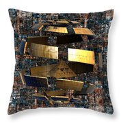 The Wandering Pyramid Throw Pillow by Peter R Nicholls
