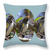 The Warbler Throw Pillow