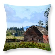 The Warmth Of The Barn Throw Pillow