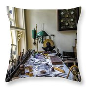 The Watch Repair Shop Throw Pillow