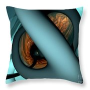 The Watcher Abstract Throw Pillow