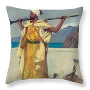The Watchful Guard Throw Pillow